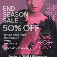Read more about F3 Elite Brands Up To 50% OFF End of Season SALE 5 Dec 2013 - 12 Jan 2014