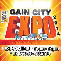 Read more about Gain City Expo @ Singapore Expo 28 Dec 2013 - 5 Jan 2014