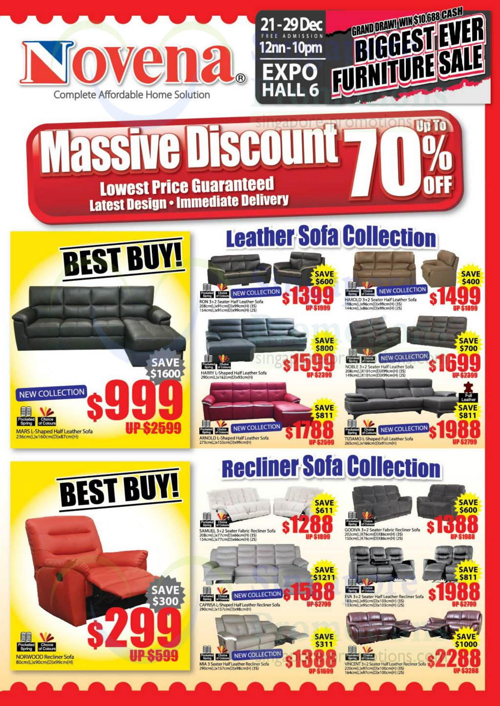 Leather Sofa Collection, Recliner Sofa Collection