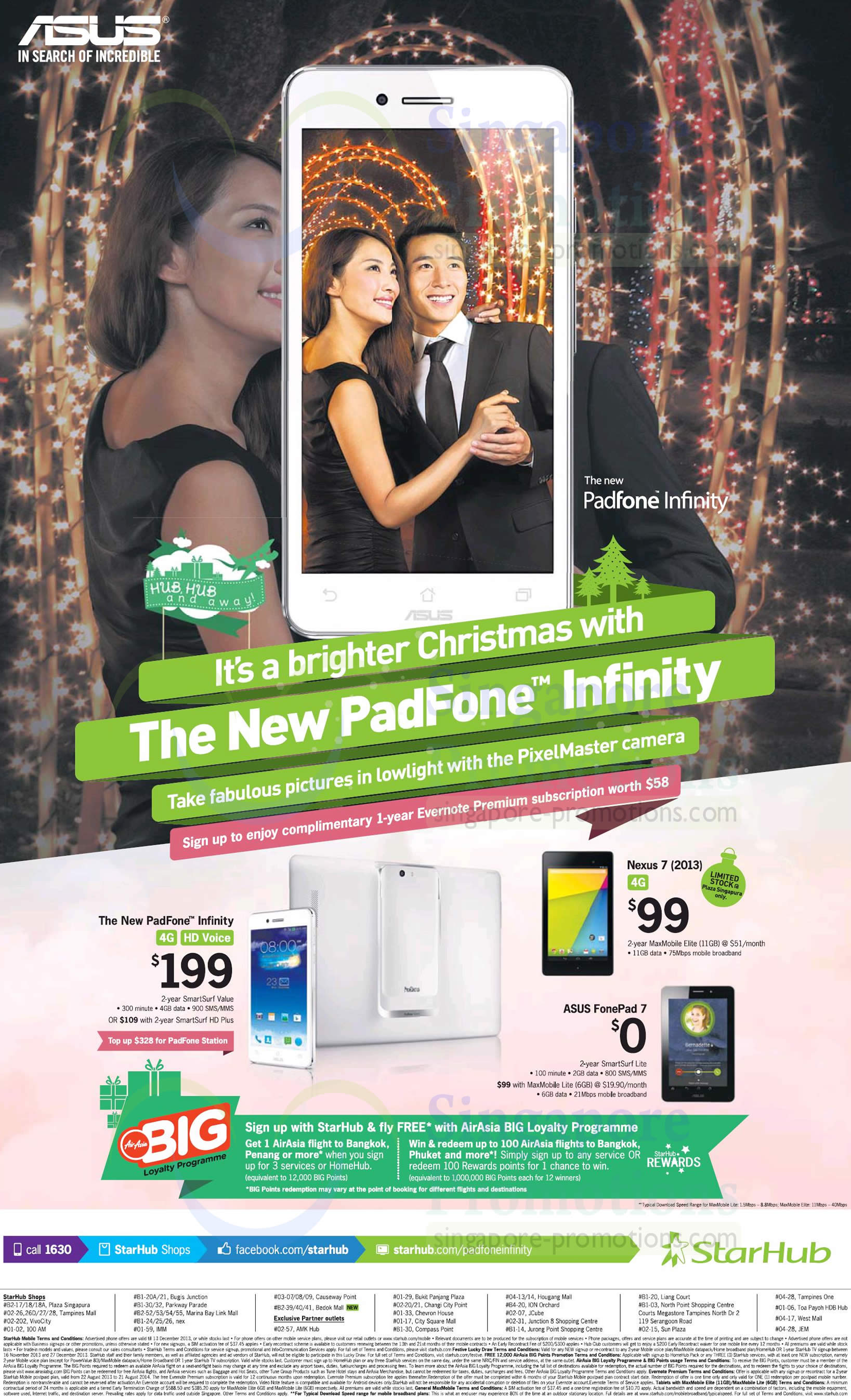 ASUS Nexus 7, ASUS FonePad 7, ASUS Padfone Infinity