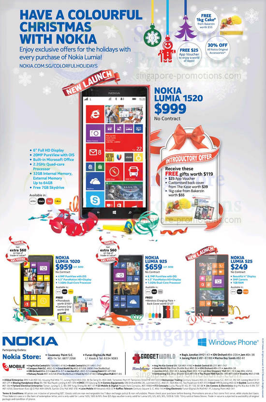 Nokia Lumia 925, 1020, 525, 1520