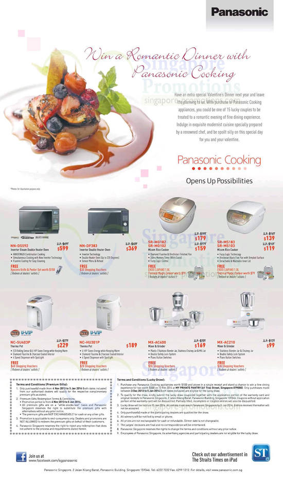 panasonic kitchen appliances 8 dec 2013 panasonic