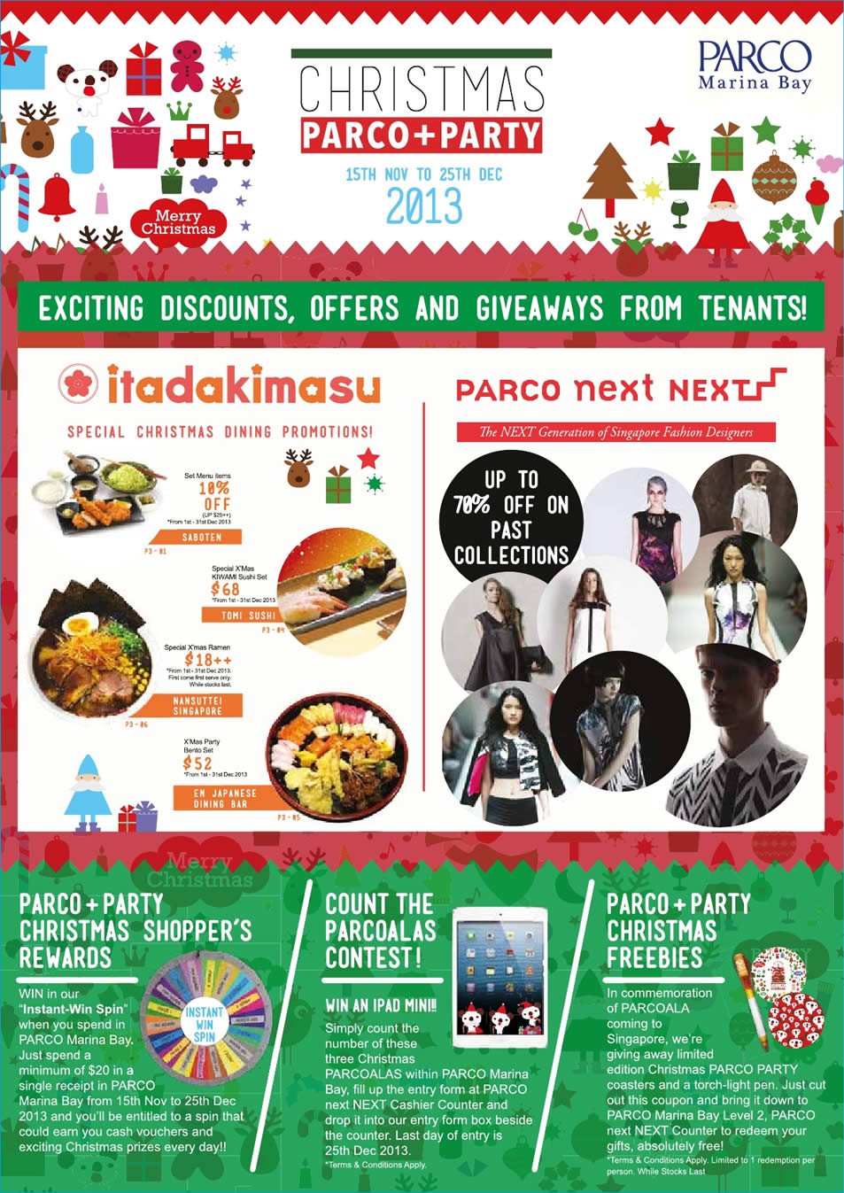 Shoppers Rewards, Count Contest, Christmas Freebies, Parco Next Next, Itadakimasu