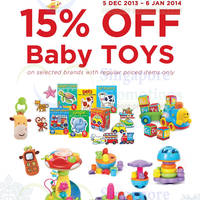 Read more about Spring Maternity & Baby 15% OFF Baby Toys Promo 5 Dec 2013 - 6 Jan 2014
