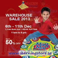 Read more about The Learning Store Up To 50% OFF Warehouse SALE 6 - 11 Dec 2013