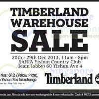 Read more about Timberland Warehouse Sale @ Safra Yishun 20 Dec 2013 - 1 Jan 2014