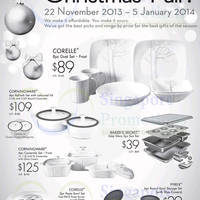 Read more about World Kitchen Corelle, Pyrex & More Fair @ Islandwide 22 Nov 2013 - 5 Jan 2014