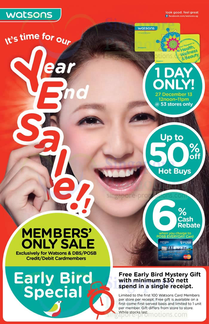 Year End One Day Sale Highlights