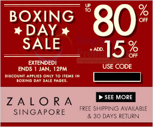 Zalora Boxing Extended 24 Dec 2013