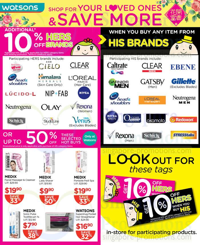 10 Percent Off Selected Brands