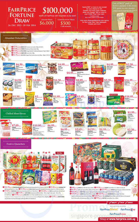 8 Jan Abundant Delectables, Chilled Must Haves, Festive Quenchers, Oreo, Van houten, Fairprice, Oreo, Brands