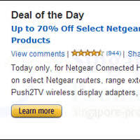 Read more about Amazon.com Up To 70% OFF Netgear Wireless Products Promo 8 - 9 Jan 2014