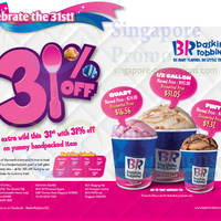 Read more about Baskin-Robbins 31% Off Hand Packed Ice Cream 31 Jul 2014