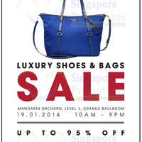 Read more about Brandsfever Handbags & Footwear Sale Up To 95% Off @ Mandarin Orchard 19 Jan 2014