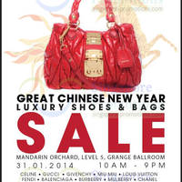 Read more about Brandsfever Handbags & Footwear Sale Up To 95% Off @ Mandarin Orchard 31 Jan - 1 Feb 2014