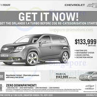 Read more about Chevrolet Orlando & Chevrolet Malibu Offers 4 Jan 2014