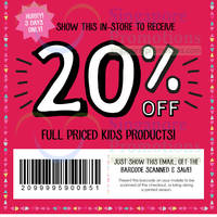 Read more about Cotton On Kids 20% OFF Storewide Coupon 24 - 26 Jan 2014