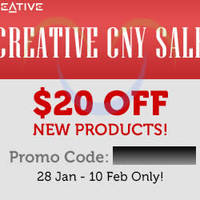 Read more about Creative Store $20 Off New Products Coupon Code 28 Jan - 10 Feb 2014