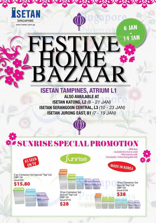 Festive Home Bazaar, Sunrise Special Promotion