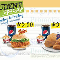 Read more about KFC $5 Student Special Combo Meals 13 Jan 2014