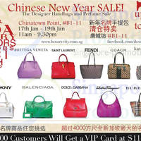 Read more about Luxury City Branded Handbags & Perfumes SALE @ Chinatown Point 17 - 19 Jan 2014