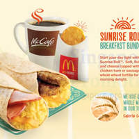 Read more about McDonald's NEW Sunrise Roll Breakfast Menu Item 1 Jan 2014