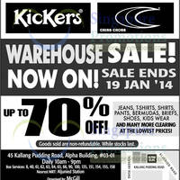 Read more about McGill Up To 70% OFF Kickers & Criss Cross Warehouse Sale 10 - 19 Jan 2014