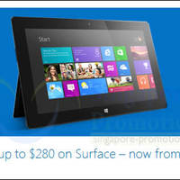 Read more about Microsoft Surface & Surface Pro Up To $280 OFF Promo 18 Jan 2014
