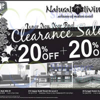 Read more about Natural Living 20% + 20% OFF Clearance SALE 11 Jan 2014