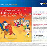 Read more about POSB Kids Up To $28 Hong Bao or 2.014* p.a. Interest Rate Promo 20 Jan - 28 Feb 2014