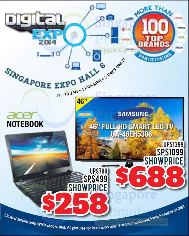 Samsung UA46EH5306 TV, Acer Notebook
