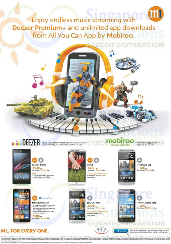 Sony Xperia Z Ultra, LG G2, HTC Desire 601, HTC One Max, Huawei Ascend Y511, Nokia Lumia 1320