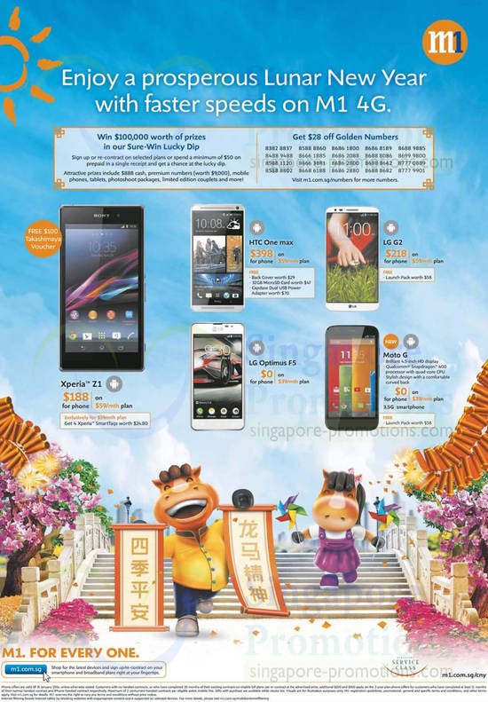 Sony Xperia Z1, HTC One Max, LG Optimus F5, LG G2, Moto G