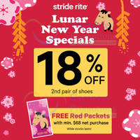 Read more about Stride Rite 18% OFF 2nd Pair Promo 10 Jan - 16 Feb 2014