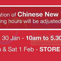 Read more about Takashimaya Chinese New Year 2014 Opening Hours 30 Jan - 1 Feb 2014