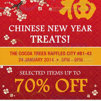 Read more about The Cocoa Trees Up To 70% OFF SALE @ Raffles City 24 Jan 2014