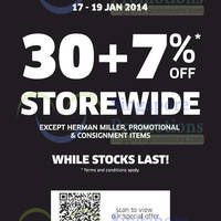 Read more about Xtra 30 + 7% Storewide Promo 17 - 19 Jan 2014