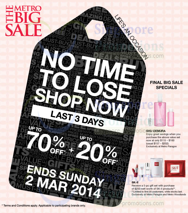 28 Feb Last 3 Days Up To 70 Percent Off