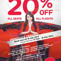 Read more about Air Asia 20% OFF All Flights Promo 10 - 16 Feb 2014