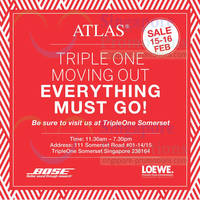 Read more about Atlas Bose & Loewe Moving Out SALE @ TripleOne Somerset 15 - 16 Feb 2014