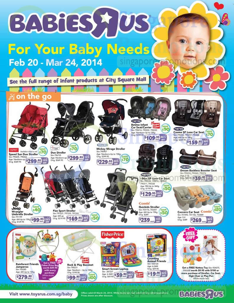 Babies R Us On the Go, Strollers, Combi, Graco, Fisher-Price
