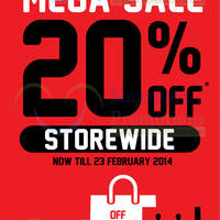 Read more about Bata 20% OFF Storewide Promo @ Islandwide 18 - 23 Feb 2014