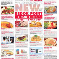 Read more about Bedok Point 1 For 1 Deals @ Popeyes, MFM, Chicken Hotpot & More 21 Feb - 12 Mar 2014