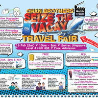 Read more about Chan Brothers Travel Fair @ Suntec 16 Feb 2014