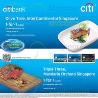 Read more about Citibank 1 For 1 Promo @ Olive Tree & Triple Tree 18 Feb 2014