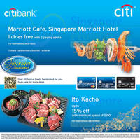 Read more about Marriott Cafe 1 Dines FREE With 2 Paying Adults For Citibank Cardmembers 9 Feb 2014