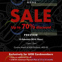 Read more about Cortina Watch Up To 70% OFF SALE @ ION Orchard 14 - 16 Feb 2014