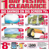 Read more about Courts 1 Day Big Screen TVs Festive Clearance Offers 5 Feb 2014