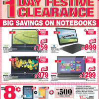 Read more about Courts 1 Day Notebooks Festive Clearance Offers 6 Feb 2014