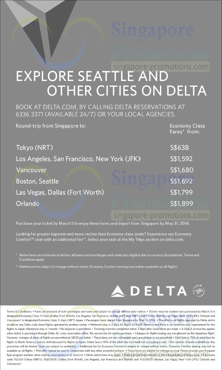 Delta Airlines 25 Feb 2014